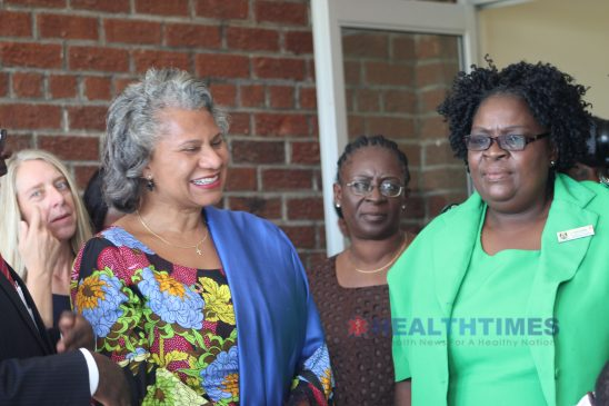 Dr Julitta Onabanjo tours the Tariro Clinic and Youth Centre In Hopley Harare