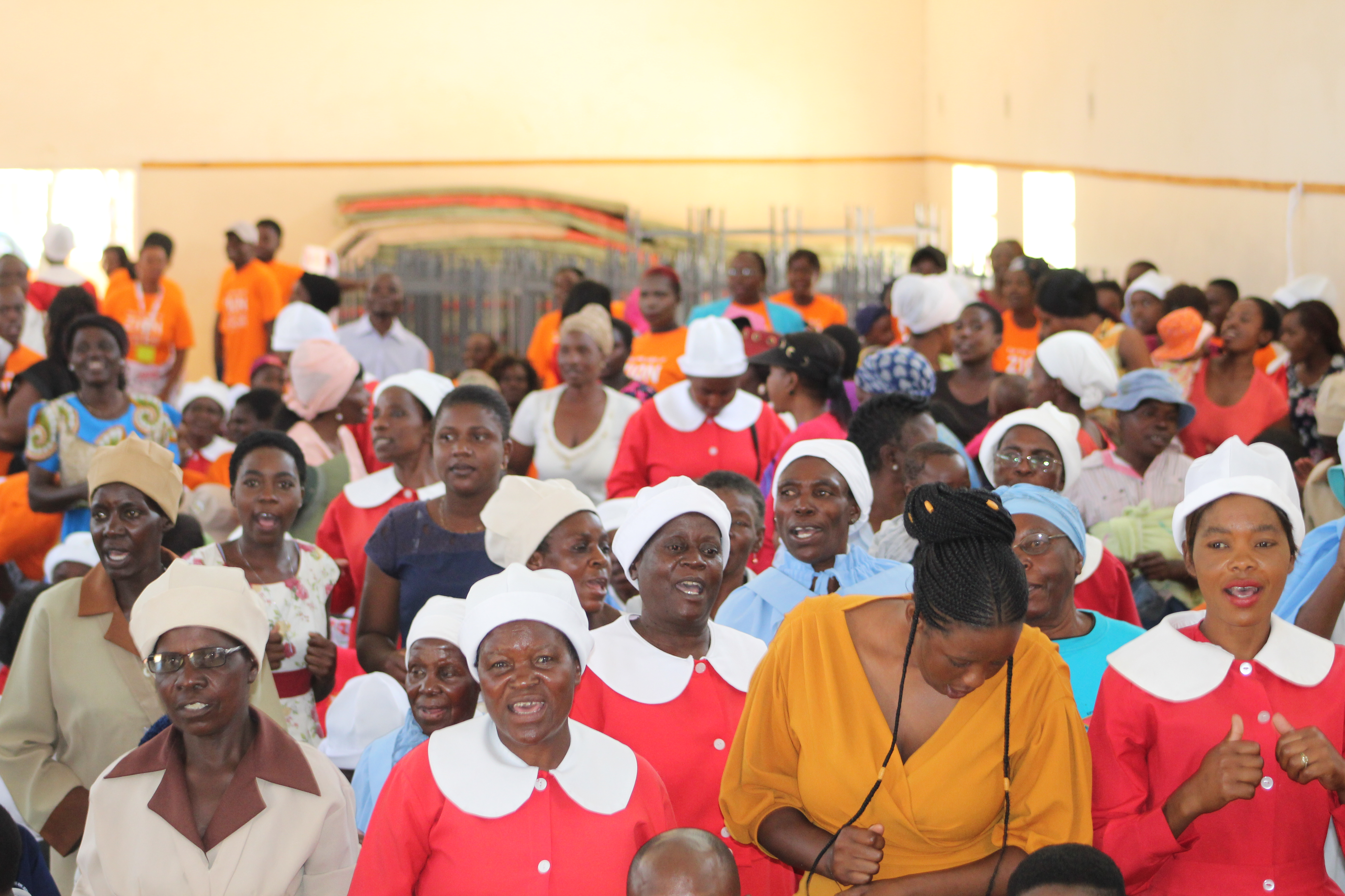 Members from various churches gather at the women and girls symposium