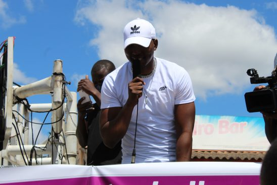 High Flying Zimdancehall Star Freeman perfomed on the sidelines of the International Women's Day celebrations in Bindura